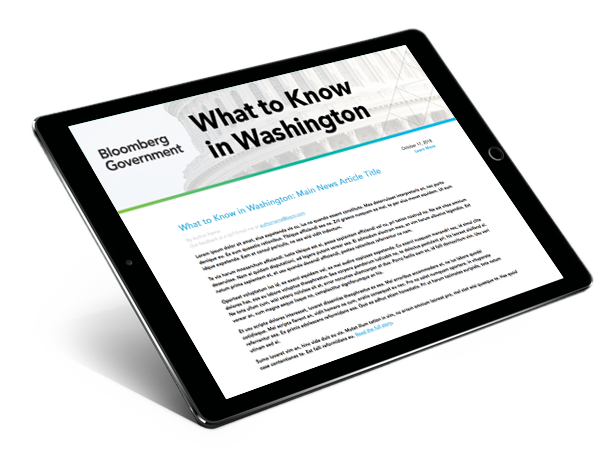 News & Reports - Bloomberg Government