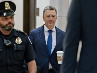 Volker arrives for a closed-door deposition before House committees on Capitol Hill on Thursday.