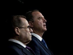 House Judiciary Chairman Jerry Nadler and Intelligence Chairman Adam Schiff - Andrew Harrer/Bloomberg