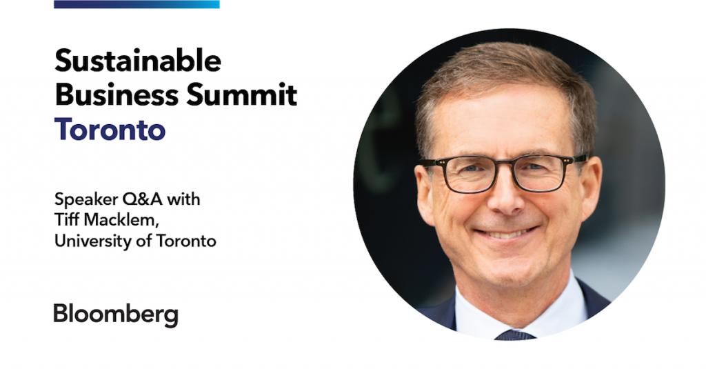 Sustainable Business Summit Tiff Macklem