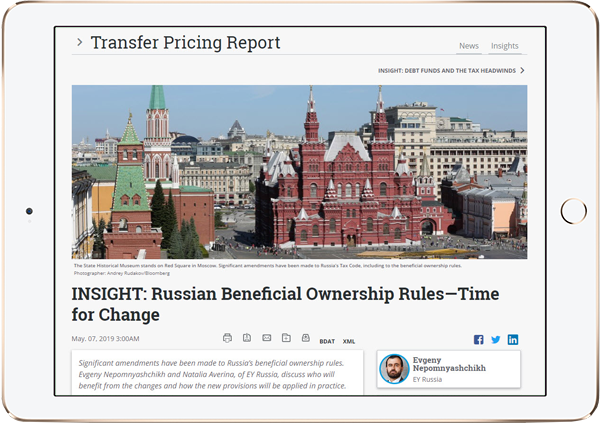 Transfer Pricing Report - Bloomberg Tax & Accounting