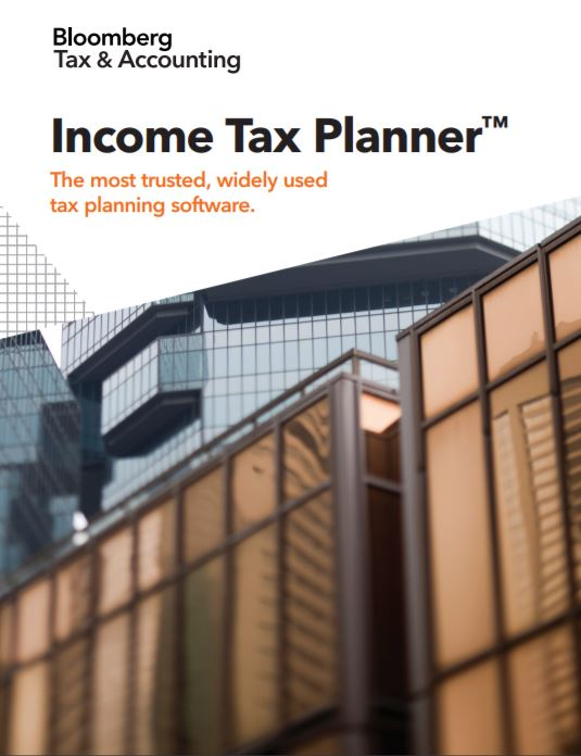 Bloomberg Tax Technology Income Tax Planner Brochure