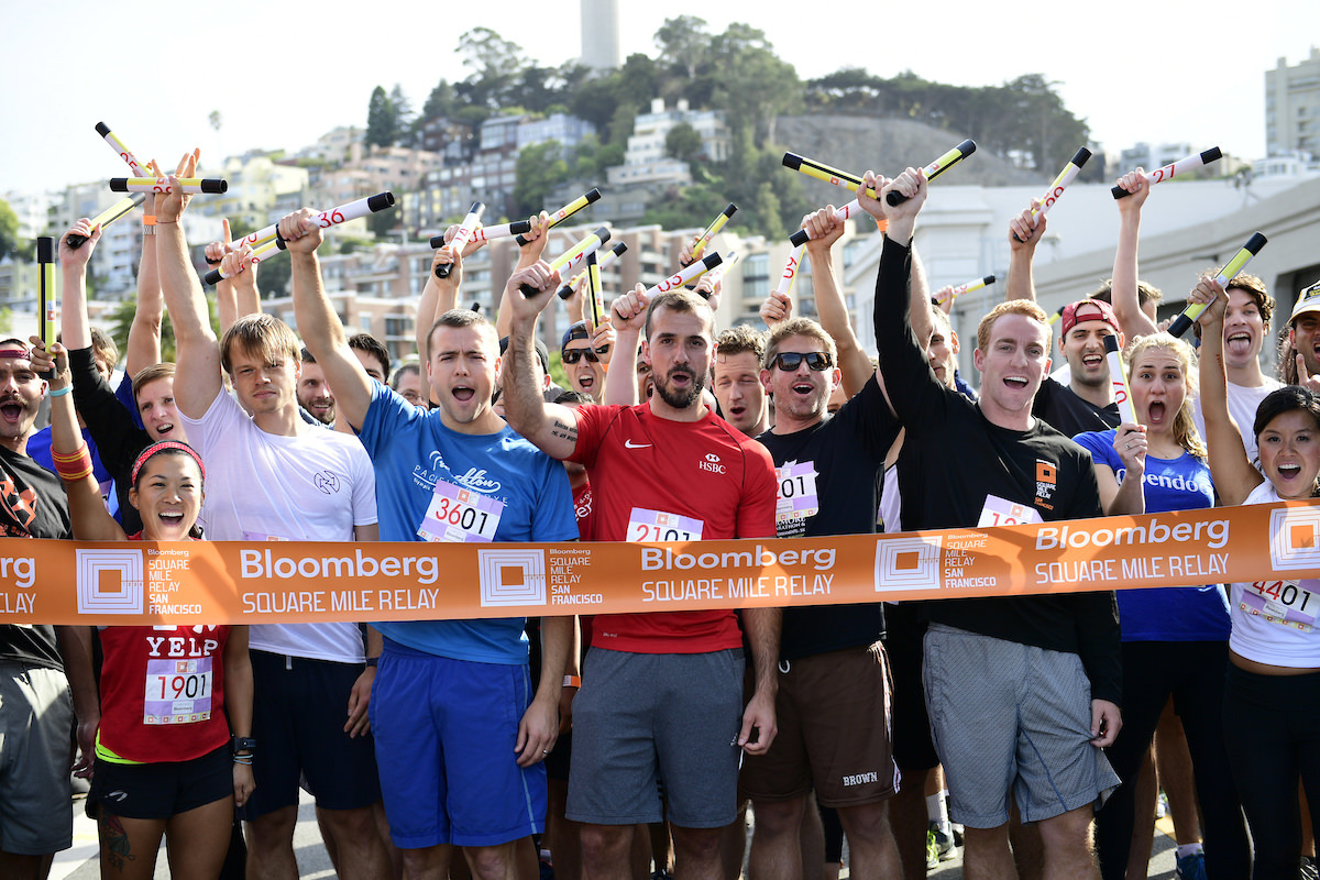 team  dodge   wins san franciscos  bloomberg square mile relay bloomberg lp