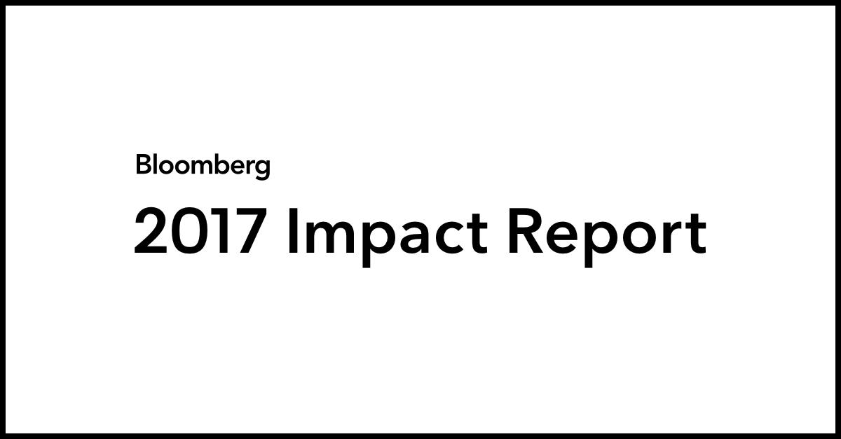 Bloomberg Impact Report Bloomberg Lp