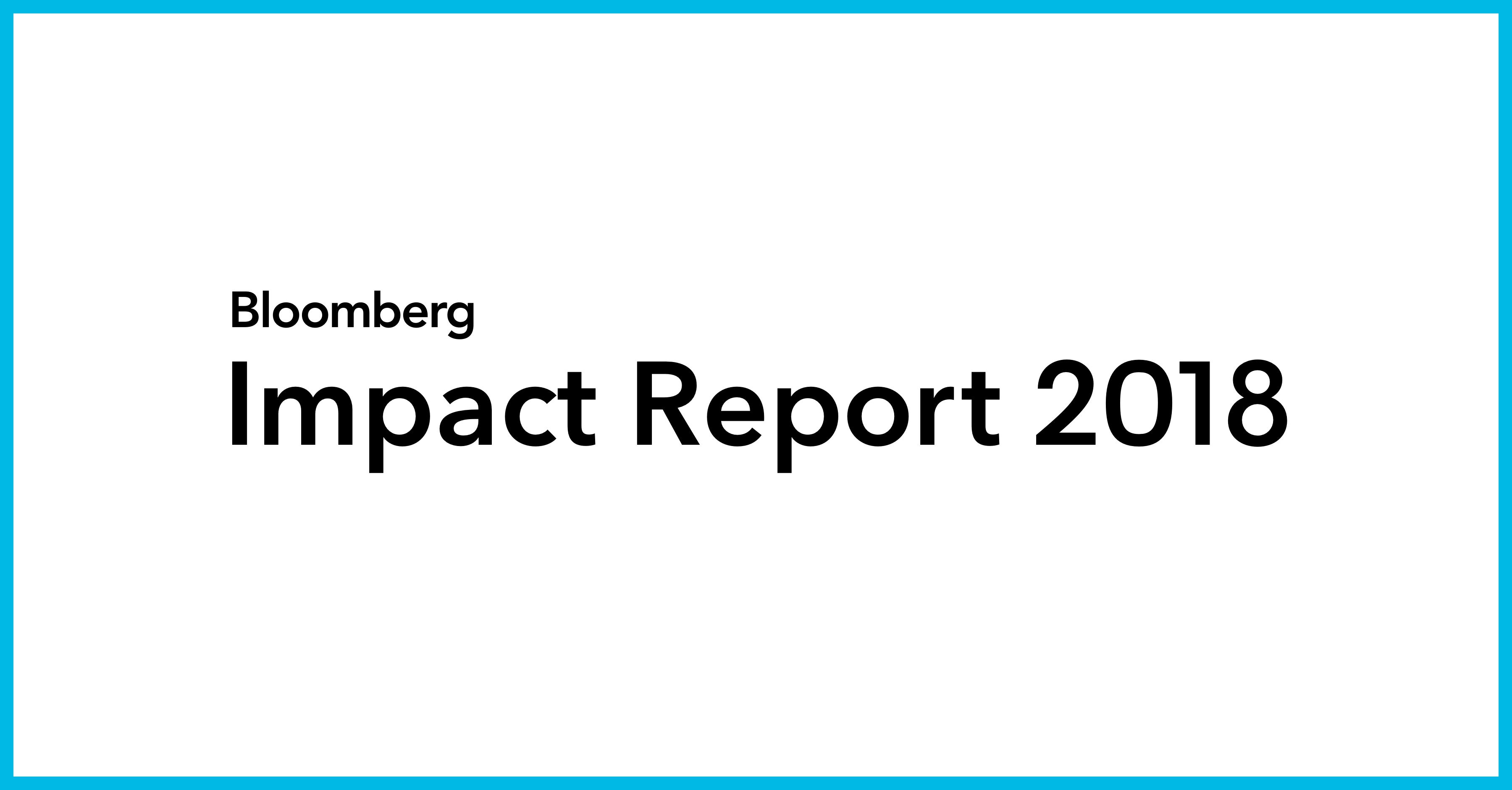 Bloomberg New Energy Finance | Bloomberg Impact Report