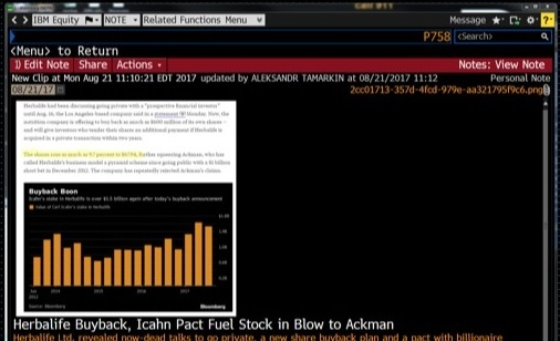 Bloomberg Terminal: Clip to NOTE | Bloomberg Apps
